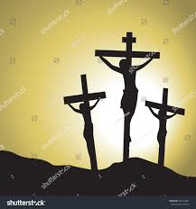 jesus christ crucified silhouette jesus christs stock vector