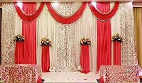 fabric backdrop wedding stage decorations backdrop party drapes with