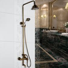 Outdoor Shower Head Copper - antique copper shower faucet system with hand held shower