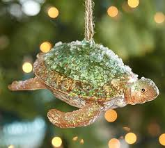 glass turtle ornament pottery barn