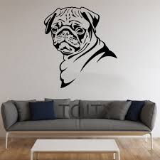 online get cheap stickers wall pug aliexpress com alibaba group pug dog stickers wall pet animal vinyl decals nursery decor home room interior design art murals