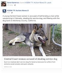 stolen service dog may be in moco bigsurkate