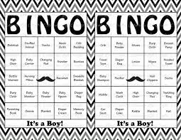 100 baby shower bingo cards mustache theme printable