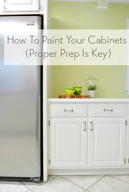 how to paint kitchen cabinets step by step with video