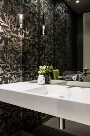 Luxury Powder Room Cheerful Modern Home In Melbourne With A Posh Minimal Vibe