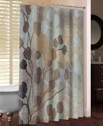 Brown And Gold Shower Curtains Lauralhome Spa Blue And Gold Shower Curtain Reviews Wayfair