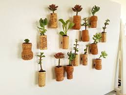 succulent planters how to make succulent planters with cork