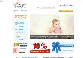 online gift registry sm gift registry for newbs expat manila