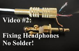 no solder how to repair or fix headphones youtube