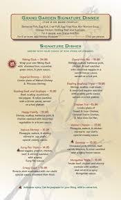 Family Garden Menu - grand garden chinese restaurant menu grand garden chinese cuisine