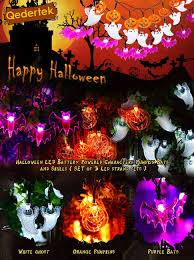 amazon com luckled set of 3 battery powered halloween string
