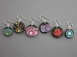 customized earrings smaddock painted wood earrings customized in your colors