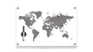 wandregal hexagon memoboard zeller present aus glas in braun memoboard worldmap bedrucktes glas ca 60 x 40 cm guenstiger jpg