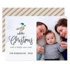 Newly Wed Christmas Card Happy New Year Wishes Fireworks Family Photo Card Xmascards
