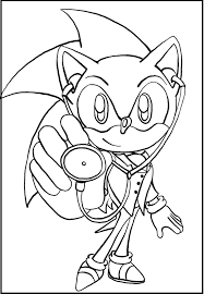 sonic the doctor coloring picture for kids sonic the hedgehog