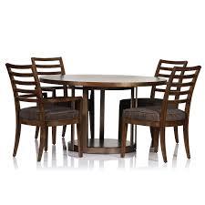 Dark Dining Table by Manhattan Round Dark Oak Dining Table Max Sparrow