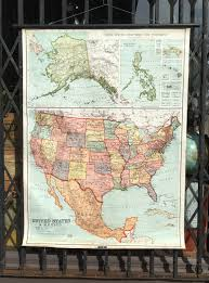 Wall Map Of The United States by 1937 Nystrom Vintage Map Of The United States Roll Up Pull