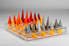 chess set designs a colorful chess set that can be used in multiple ways design milk