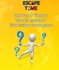 top 5 tips on how to escape from a live escape room game