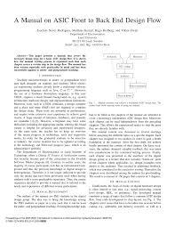 a manual on asic front to back end design flow pdf download