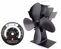 wood burning stove circulating fan galleon fires 4 blade heat powered stove fan eco friendly wood