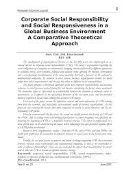 corporate social responsibility and social responsiveness in a