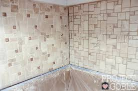 Grouting Kitchen Backsplash How To Install A Peel Stick Mosaic Tile Kitchen Backsplash