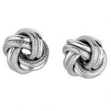 knot earrings silver knot earrings salmaearrings