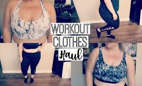 Plus Size Exercise Clothes Cute Plus Size Workout Clothes Try On Haul Youtube