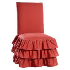 Slipcover Armchair Ruffle 3 Tiered Dining Chair Slipcover Target