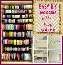 craft organization how to make a wooden ribbon rack holder