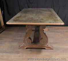 vintage french dining table antique french art nouveau eglomise dining table glass topped inlay