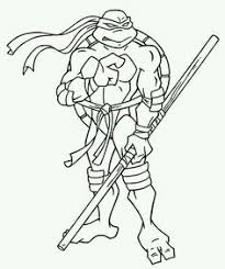 ninja turtles art coloring tmnt party ninja