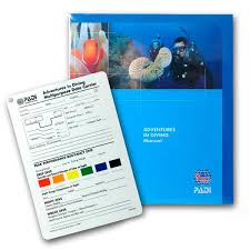 Padi Dive Table by Adventures In Diving Manual With Data Carrier Slate