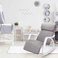 Armchair Breastfeeding Breastfeeding Rocking Chair Recliner Grey