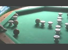 bumper pool traditional cueing game youtube