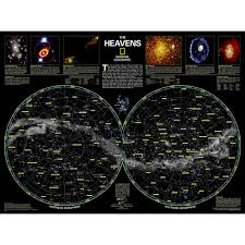 space and solar system posters wall murals national geographic the heavens wall map