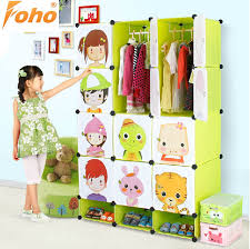 emboss design portable plastic bedroom furniture wardrobe closet