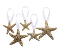 foster gold glass starfish ornaments set of 2 beachfront decor
