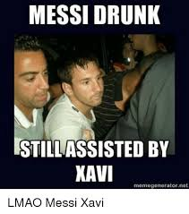 Baby Meme Generator - messi drunk still assisted by xavi memegenerator net lmao messi