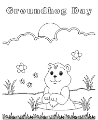 Groundhog Day Coloring Pages Free Printable 445930 Groundhog Color Page