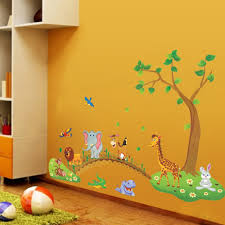kids room giant nursery wall decal scroll tree owl jungle animal kids room wall glass stickers picture more detailed picture about free in kids room jungle