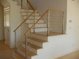 Wood Interior Handrails Ledgerock Custom Metal Fabricators U2013 Image Gallery Of Cable Railings