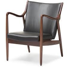 Retro Accent Chair Baxton Studio Shakespeare Mid Century Modern Retro Black Faux