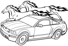 mustang horse coloring pages mustangs cutting