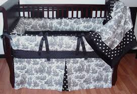 black and white toile bedding for baby trends black and white