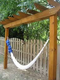 great hammock pergola design diy pergola with hammock deck posts