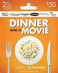 dinner and a gift card darden fandango a meal multipack of 2 25