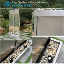 Garden Decorations For Sale 2016 Stainless Steel S Style Artificial Waterfall Fountain Garden