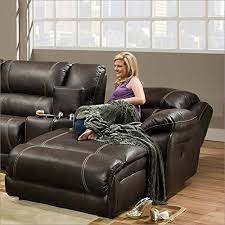 Reclining Chaise Lounge Chair Amazon Com Simmons Upholstery 50660 Blackjack Bonded Leather Raf